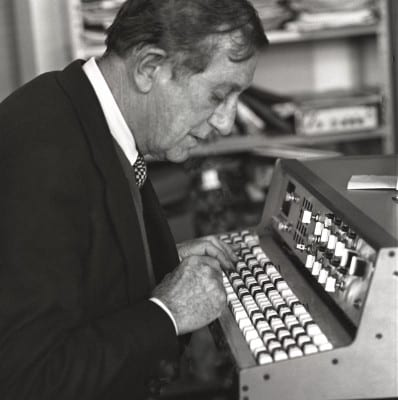 Alain Daniélou, Rome 1976, photo: Jacques Cloarec