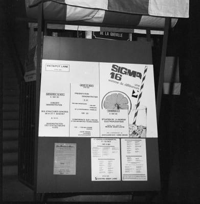 3/6 - Présentation du S52 en novembre 1980 lors du festival Sigma, à Bordeaux. En présence d'Alain Daniélou, André Kudelski et Claude Cellier.
