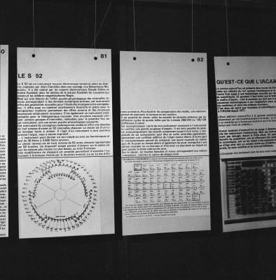 4/6 - Présentation du S52 en novembre 1980 lors du festival Sigma, à Bordeaux. En présence d'Alain Daniélou, André Kudelski et Claude Cellier.