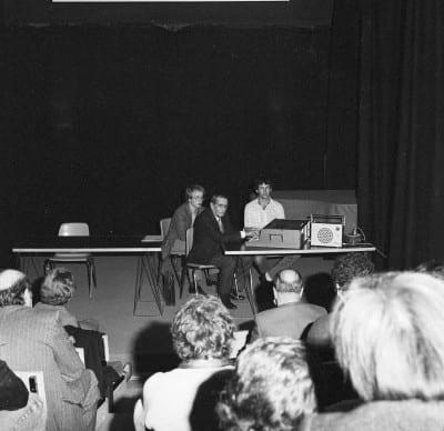 6/6 - Présentation du S52 en novembre 1980 lors du festival Sigma, à Bordeaux. En présence d'Alain Daniélou, André Kudelski et Claude Cellier.